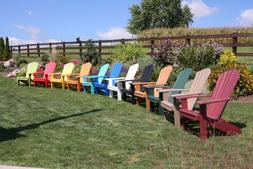 A&L Furniture Co. Amish-Made Poly Fanback Adirondack Chairs