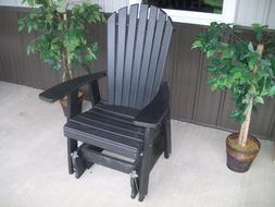 A&L Furniture Co. Amish-Made Poly Adirondack Glider Chairs -