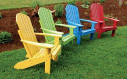 A&L Furniture Co. Amish-Made Pine Fanback Adirondack Chairs