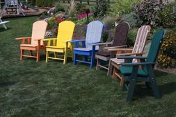 A&L Furniture Co. Amish-Made Poly Upright Adirondack Chairs