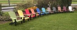 A&L Furniture Co. Amish-Made Two-Tone Poly Adirondack Chairs