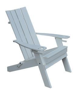 A&L Furniture Folding Poly Hampton Adirondack Chairs with In
