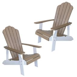 AmeriHome ADCHAIR4SET Simulated Wood Outdoor Two Tone Adiron
