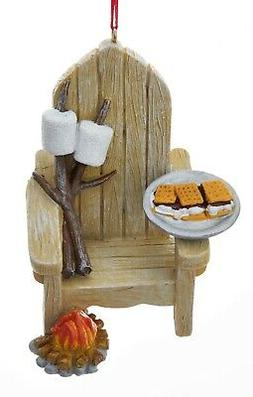 adirondack chair and plate of smores ornament
