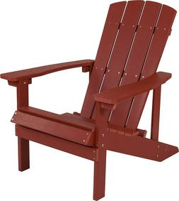 Adirondack Chair in Red Faux Wood  - Charlestown All-Weather