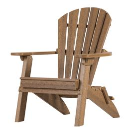 ADIRONDACK CHAIR - Mahogany Folding Fan Back with Cup Holder