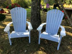 Finch Adirondack chair set of 2, brand new, baby blue and wh