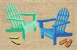 """Area Rugs - """"By the Seaside"""" Rug - 20"""" X 30"""" - Adirondack Be"""