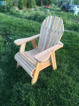Cedar redwood Adirondack quality handcrafted wood chair outd