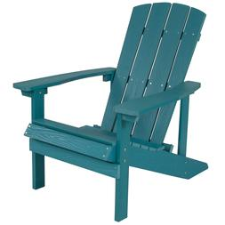 Flash Furniture Charlestown Faux Wood Adirondack Chair In Se