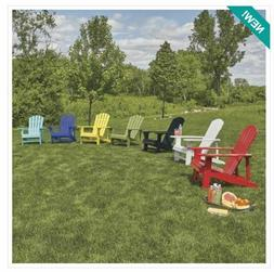 Coloroful Classic Painted Wood Adirondack Chair. 250 lb. Cap