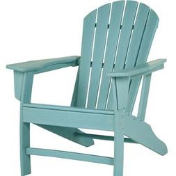 Contemporary Plastic Adirondack Chair with Slatted Back, Tur