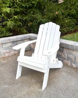 Country Classic-Poly Folding Adirondack Chair-Recycled Plast