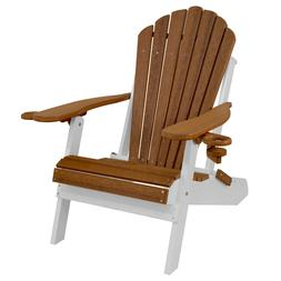 Deluxe Outer Banks Two-Toned Poly Lumber Grain Adirondack Ch