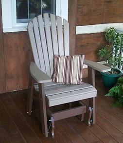 Fanback Adirondack GLIDER CHAIR *TWO TONE COLORS * TWO COLOR