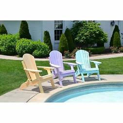 Folding Adirondack Chair - Dream Colors - Recycled Plastic