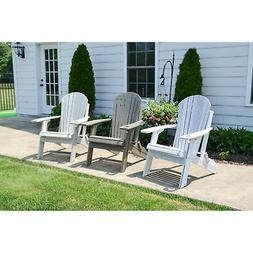 Folding Adirondack Chair - Natural Colors - Recycled Plastic