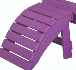 Folding OTTOMAN in Poly Lumber for Adirondack Chairs -MULTIP