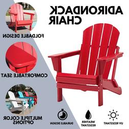 WestinTrends Folding Outdoor Patio Poly Adirondack Chairs Se
