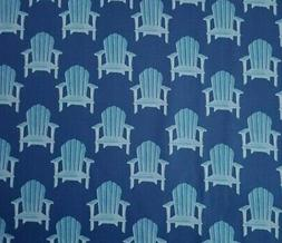 Hot Dog Collection BTY P&B Textiles Adirondack Chairs Blue N