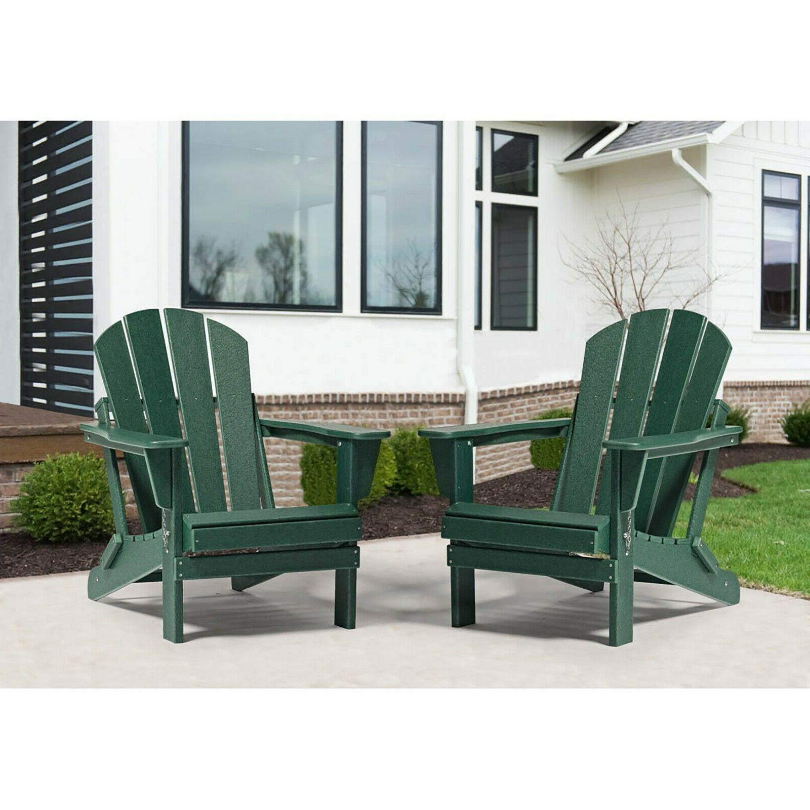 2 Chairs Plastic Lounger