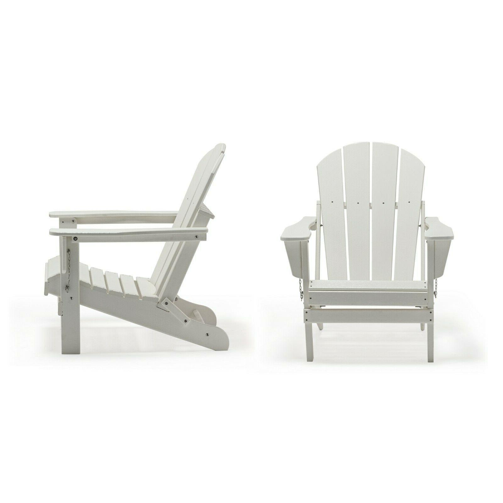 2 PCS Outdoor Poly Chairs Plastic Lounger