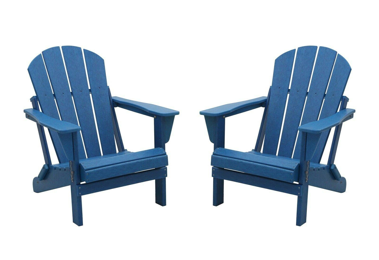 2 WestinTrends Folding Outdoor Patio Chairs