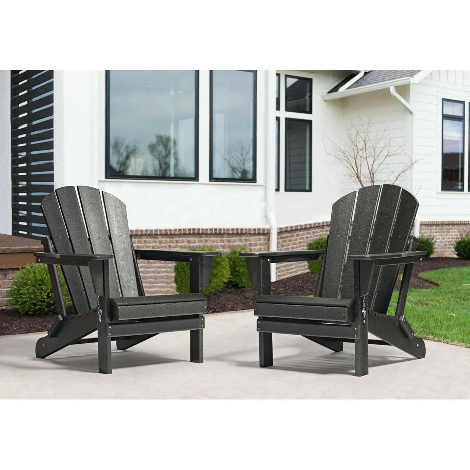 2 PCS WestinTrends Outdoor Patio Chairs Plastic