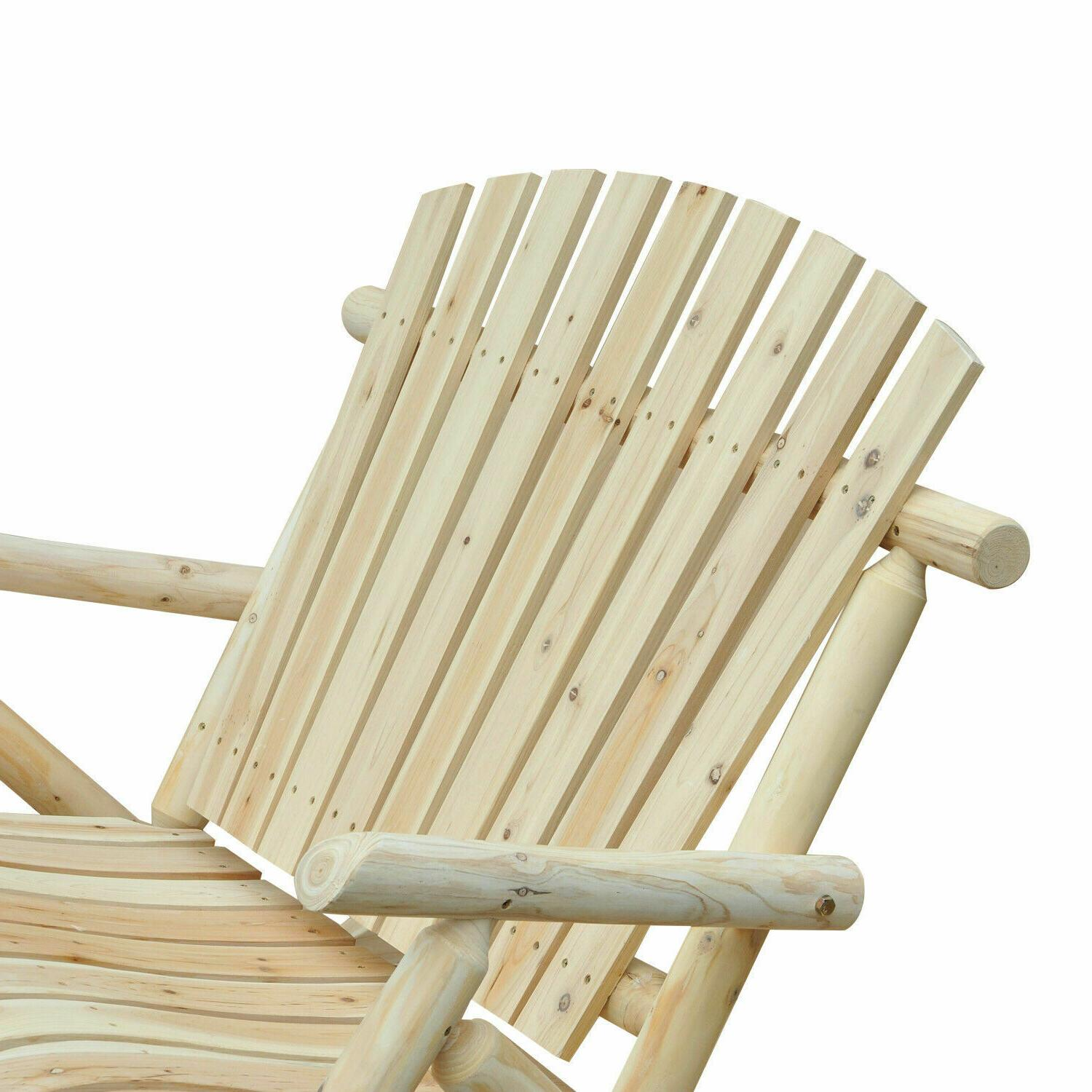 2 Person Chair Patio Furniture Loveseat Wooden