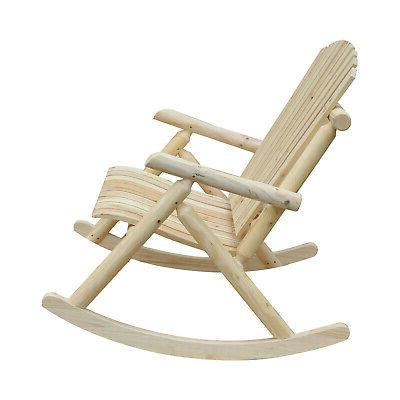 Outsuuny 2 Person Fir Wood Rustic Adirondack Rocking