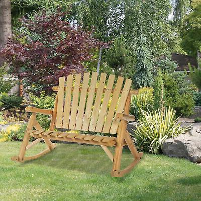 2 person fir wood rustic outdoor patio