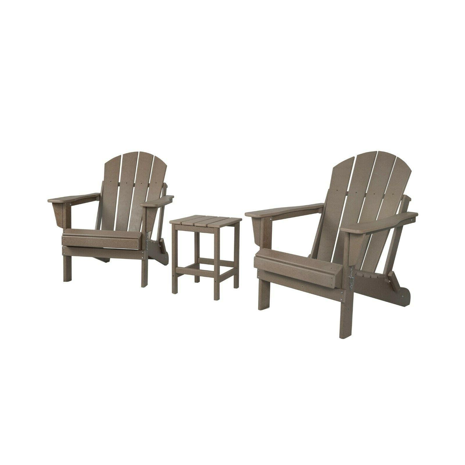 Outdoor Adirondack Chairs w/
