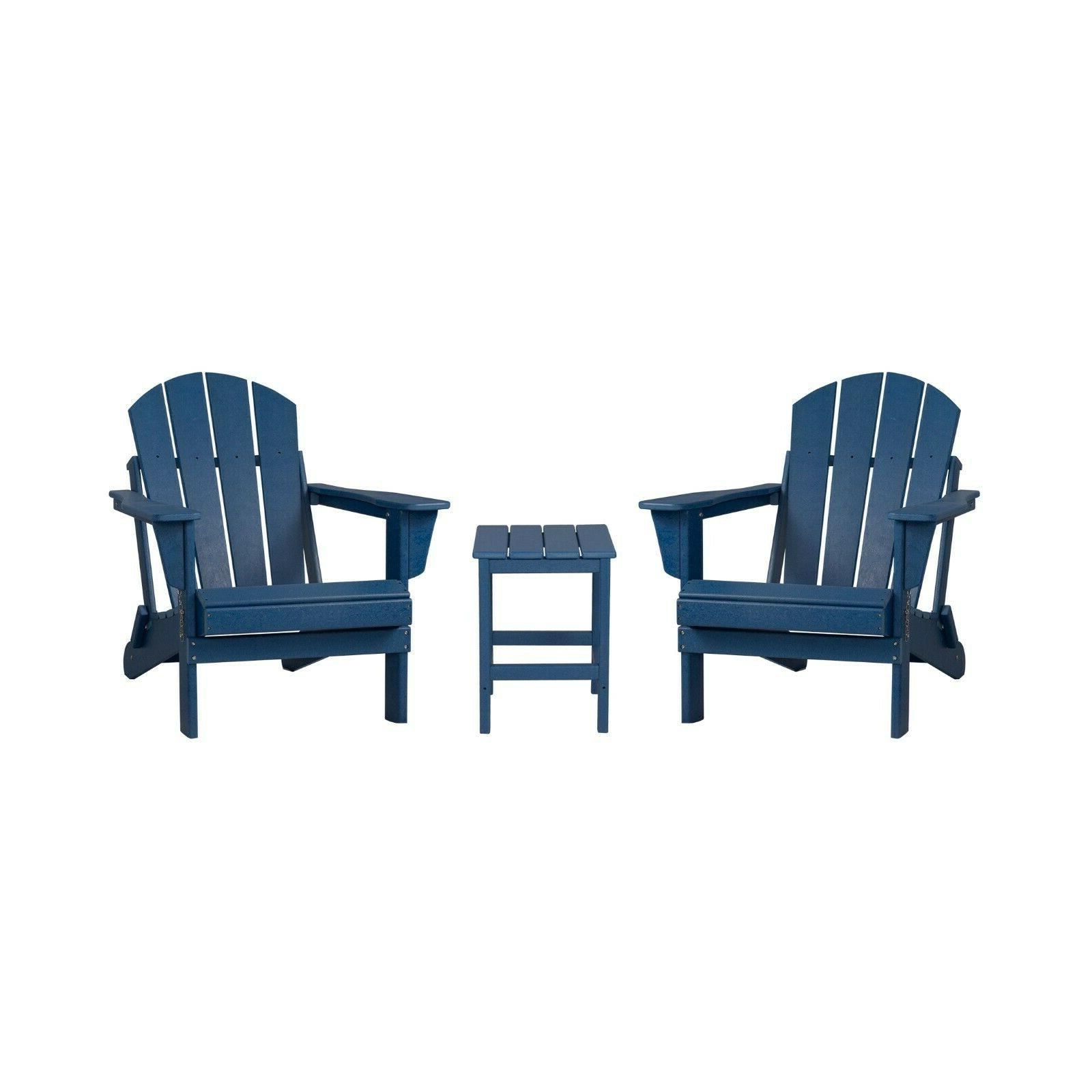 WestinTrends 3PC Set Outdoor Chairs w/ Table