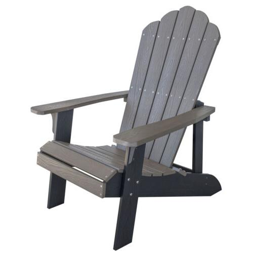 adchair1 simulated wood outdoor two tone adirondack