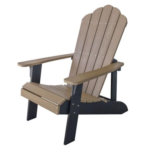adchair3 simulated wood outdoor two tone adirondack