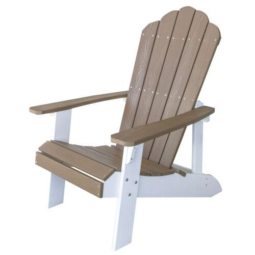 adchair4 simulated wood outdoor two tone adirondack