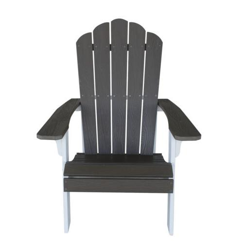 AmeriHome Simulated Wood Outdoor Two Adirondack Chair,