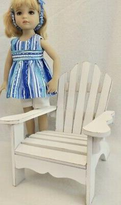 """Adirondack Chair - fits 13"""" Little Darling Dolls by Dianna E"""