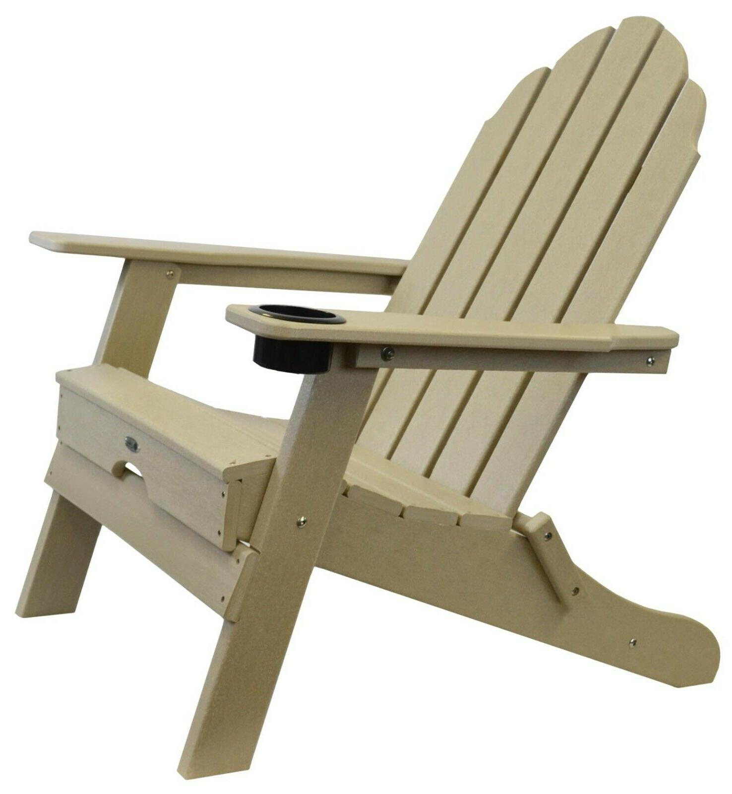beach haven poly adirondack folding chair color
