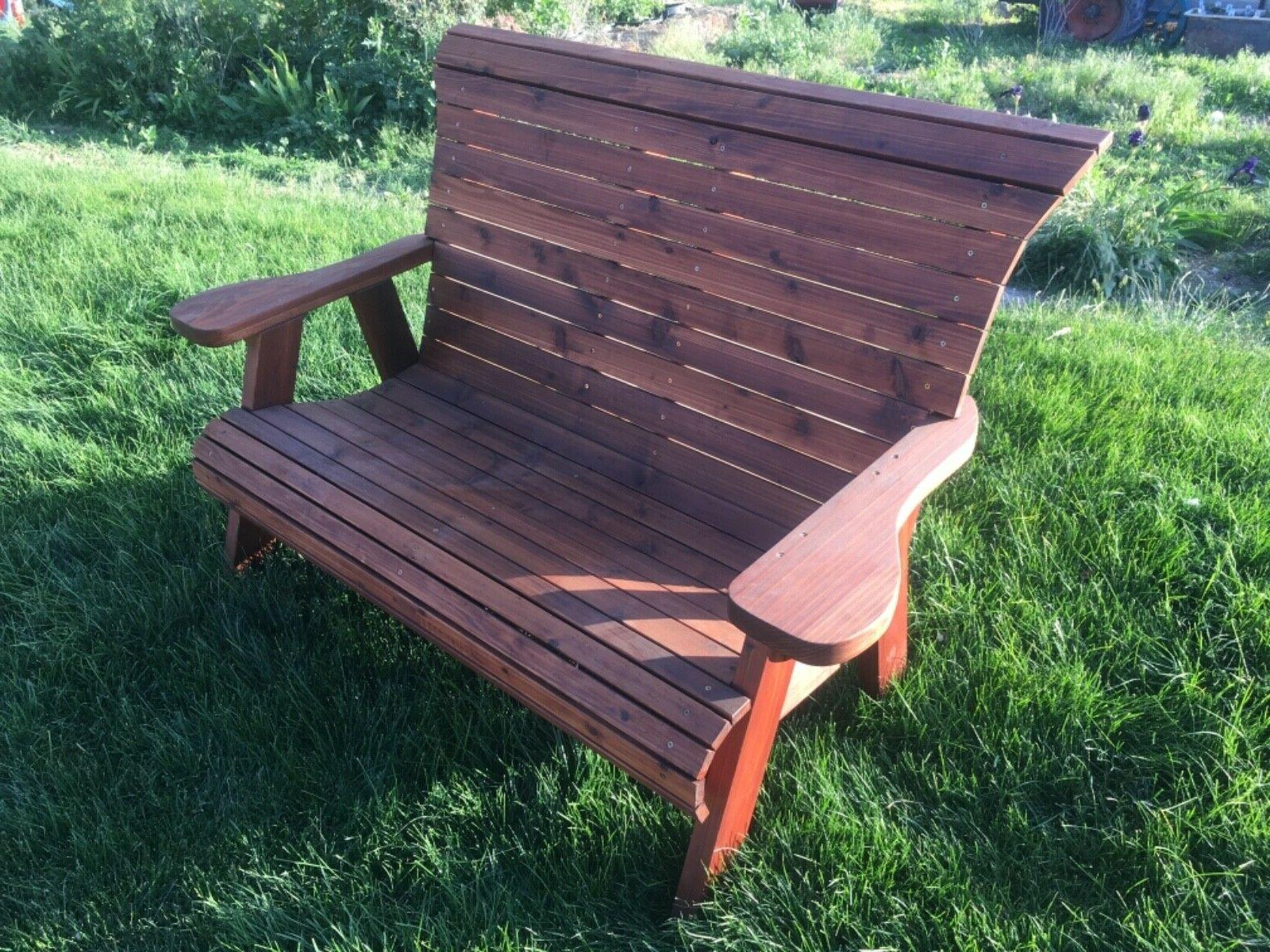 Handcrafted bench Stained sealed