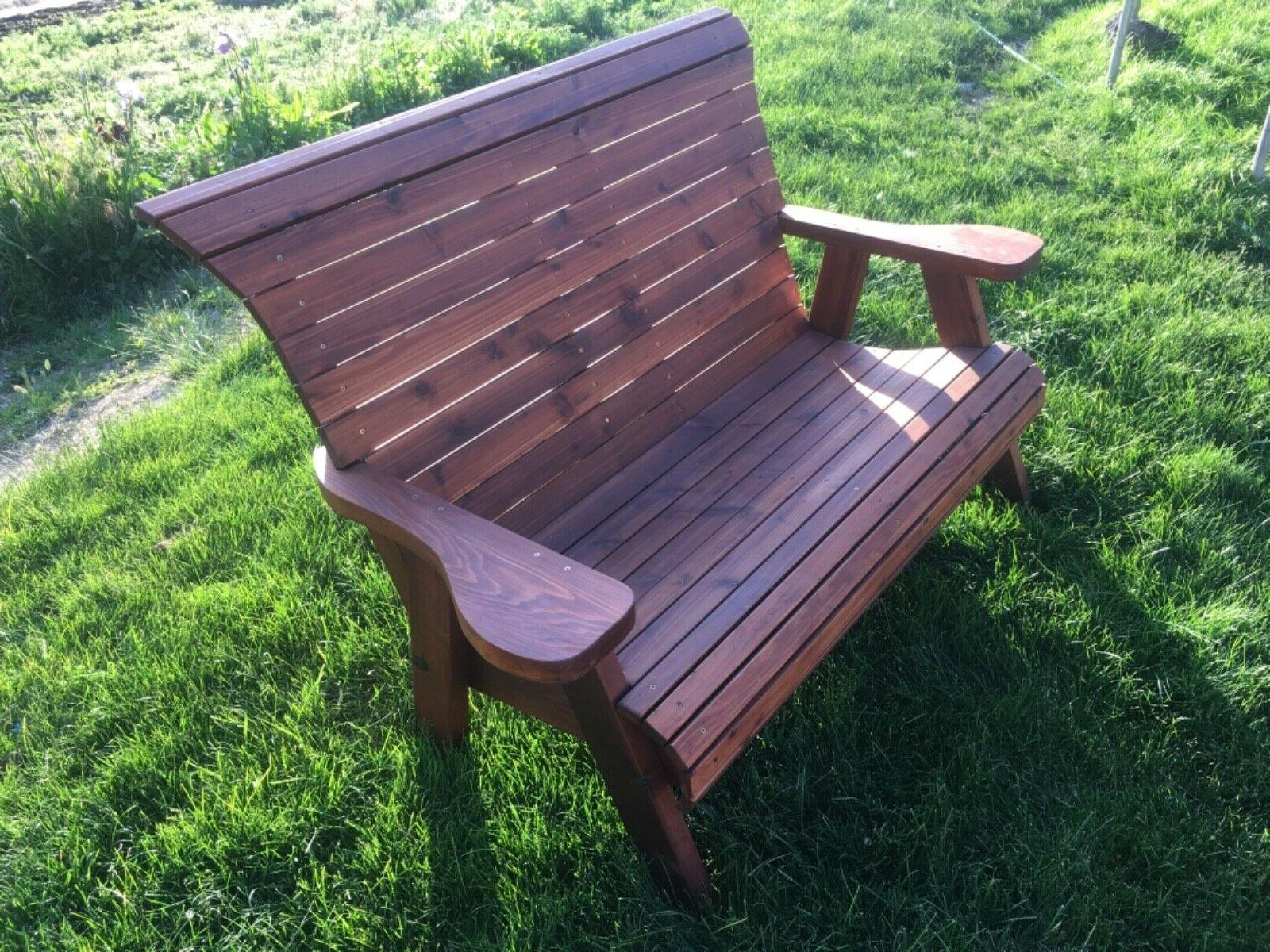 Handcrafted bench outdoor sealed