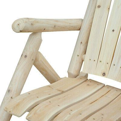 Outsunny Hardwood Chair Adirondack Style Color