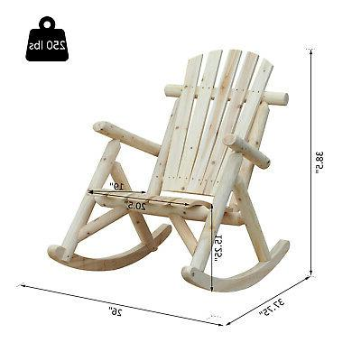 Outsunny Log Chair Style Color