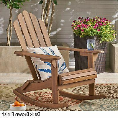 Hollywood Outdoor Rocking brown finish