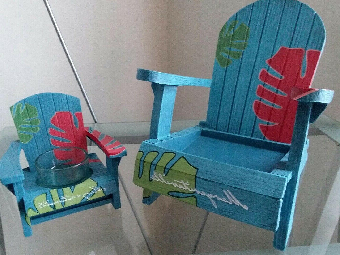 YANKEE CANDLE MARGARITAVILLE CHAIRS..JAR AND HOLDER .. NEW