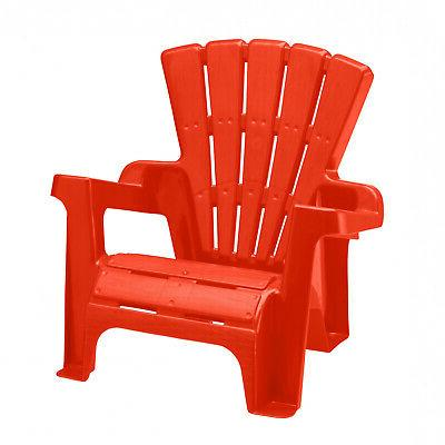 Multicolor Kids Adirondack Chair 3-Piece Stackable Assortment Plastic Seating
