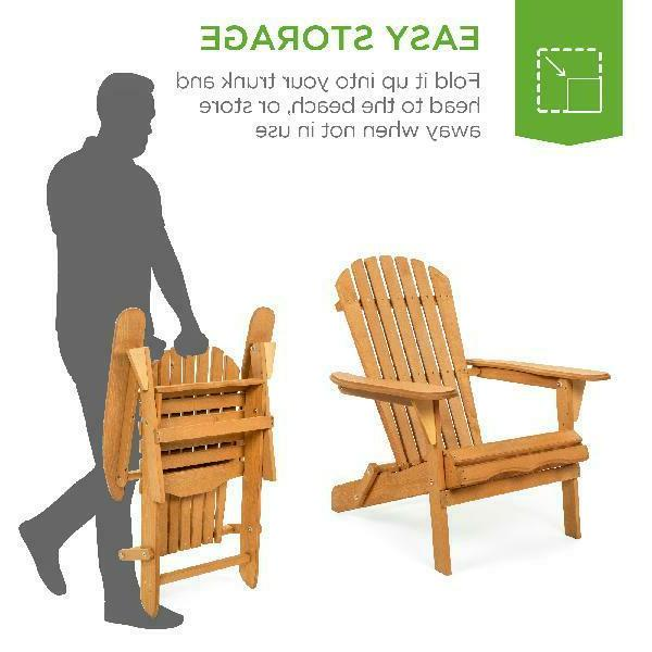 Best Products Outdoor Adirondack Wood Patio Deck