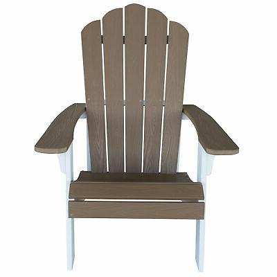 AmeriHome Outdoor Adirondack Chair with Durable Simulated Wood Const...