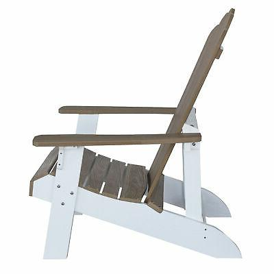 AmeriHome Two Adirondack Chair Durable Simulated Const...