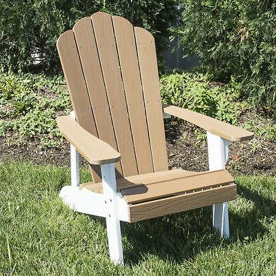 outdoor two tone adirondack chair with durable